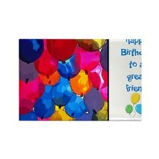 Balloons Friend Birthday Rectangle Magnet