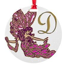 Fairy Monogram D Ornament