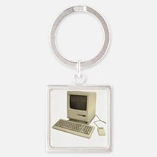 vintage mac Square Keychain