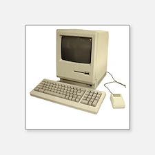 "vintage mac Square Sticker 3"" x 3"""
