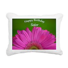 Pink Gerber Sister Birth Rectangular Canvas Pillow