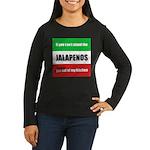 Jalapeno Lover Women's Long Sleeve Dark T-Shirt