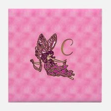 Fairy Monogram A Stamps C Tile Coaster