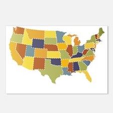 usa map puzzle Postcards (Package of 8)