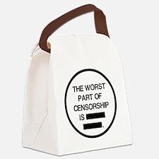 2000x2000theworstpartofcensorship Canvas Lunch Bag