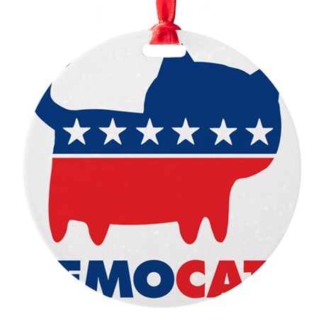 DEMOCAT Yard Sign Round Ornament