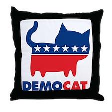 demoCAT party Throw Pillow