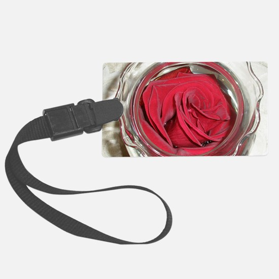 rose in water puzzle Luggage Tag