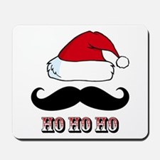Mustache Santa Red Mousepad