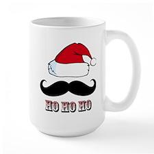 Mustache Santa Red Mug