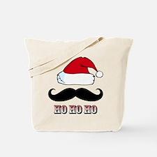 Mustache Santa Red Tote Bag
