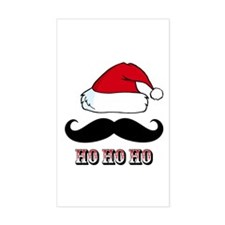 Mustache Santa Red Decal