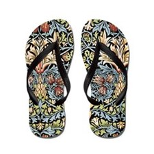 William Morris vintage pattern, Snakesh Flip Flops