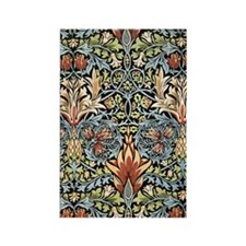 William Morris vintage pattern, S Rectangle Magnet