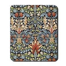 William Morris vintage pattern, Snakeshe Mousepad