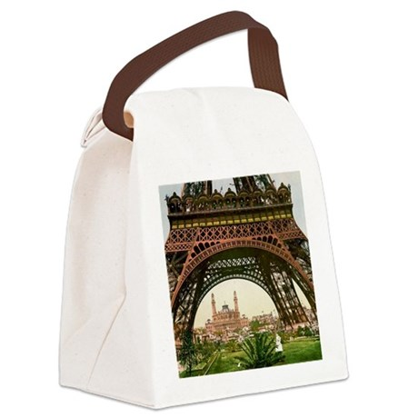 retro eiffel tower canvas lunch bag by admin cp23215317