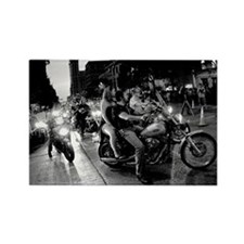 Bike Rally 0076BW Poster Rectangle Magnet