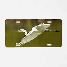 egret Aluminum License Plate
