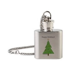 CHEMISTREE CARD white Flask Necklace