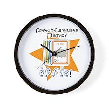 Cute Speech therapy Wall Clock