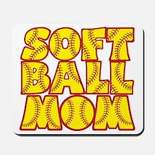 red yellow, Softball Mom Mousepad