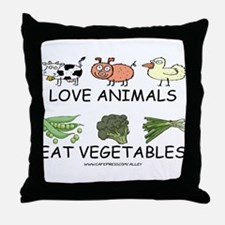 Love Animals Throw Pillow