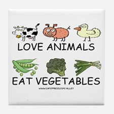Love Animals Tile Coaster