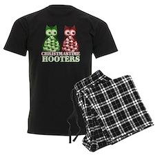 funny adult christmas hooters pajamas