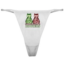 funny adult christmas hooters Classic Thong
