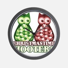 funny adult christmas hooters Wall Clock