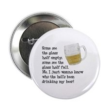 Half Glass Of Beer Button
