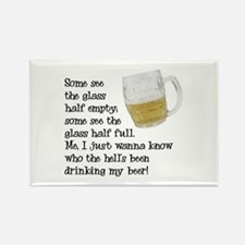 Half Glass Of Beer Rectangle Magnet