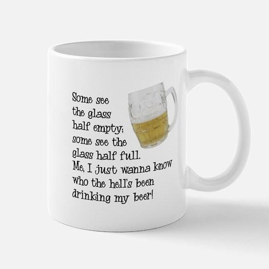 Half Glass Of Beer Mug