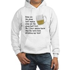 Half Glass Of Beer Hoodie