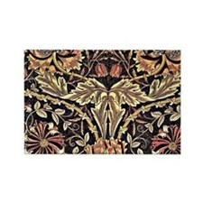 William Morris vintage design, Ho Rectangle Magnet