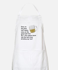 Half Glass Of Beer BBQ Apron