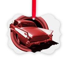 hawk circle red 10x10_apparel Ornament