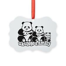Ukulele Panda Family Ornament