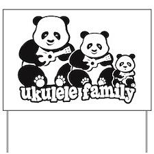 Ukulele Panda Family Yard Sign