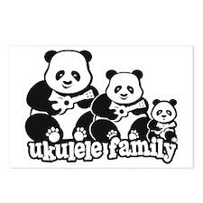 Ukulele Panda Family Postcards (Package of 8)
