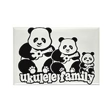 Ukulele Panda Family Rectangle Magnet