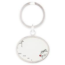 Didnt_See_bak Oval Keychain