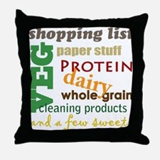 shopping bag Throw Pillow