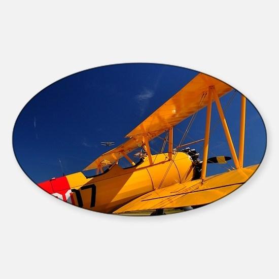 Calendar Shots, Plane Blue Sky (1)  Sticker (Oval)