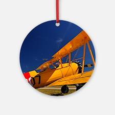 Calendar Shots, Plane Blue Sky (1)  Round Ornament