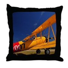 Calendar Shots, Plane Blue Sky (1) 3  Throw Pillow