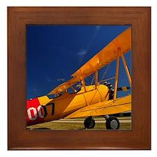 Calendar Shots, Plane Blue Sky (1) 3 s Framed Tile