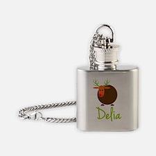 Delia-the-reindeer Flask Necklace