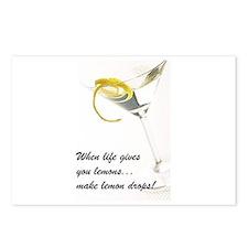Lemon Drop Martini Postcards (Package of 8)