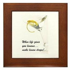 Lemon Drop Martini Framed Tile